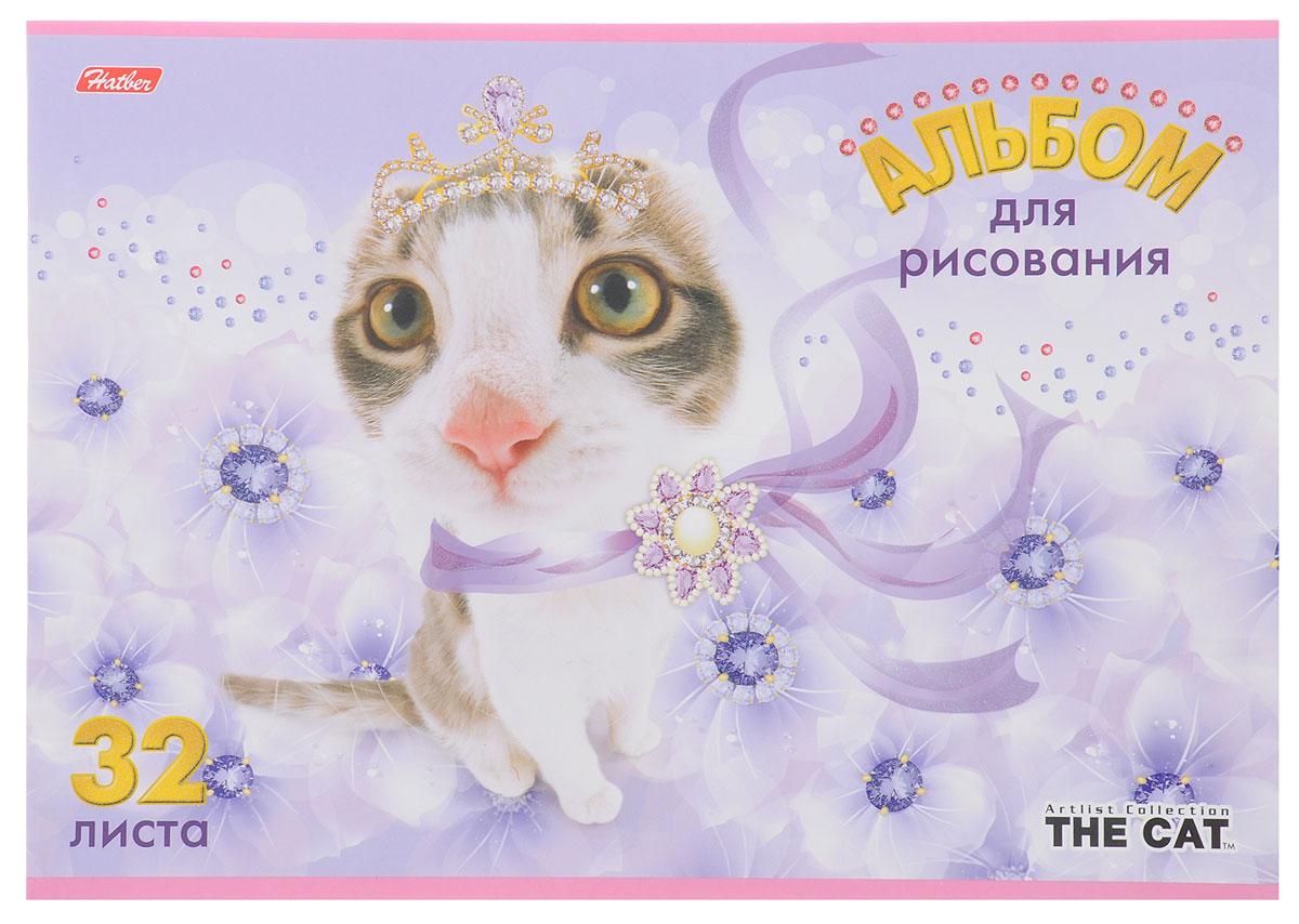 Hatber Альбом для рисования The Cat 32 листа цвет сиреневый72523WDАльбом для рисования Hatber The Cat порадует маленького художника и вдохновит его на творчество. Альбом изготовлен из белоснежной бумаги с яркой обложкой из плотного картона, оформленной изображением кошки. Внутренний блок альбома, соединенный металлическими скрепками, состоит из 32 листов. Высокое качество бумаги позволяет рисовать в альбоме карандашами, фломастерами, акварельными и гуашевыми красками.