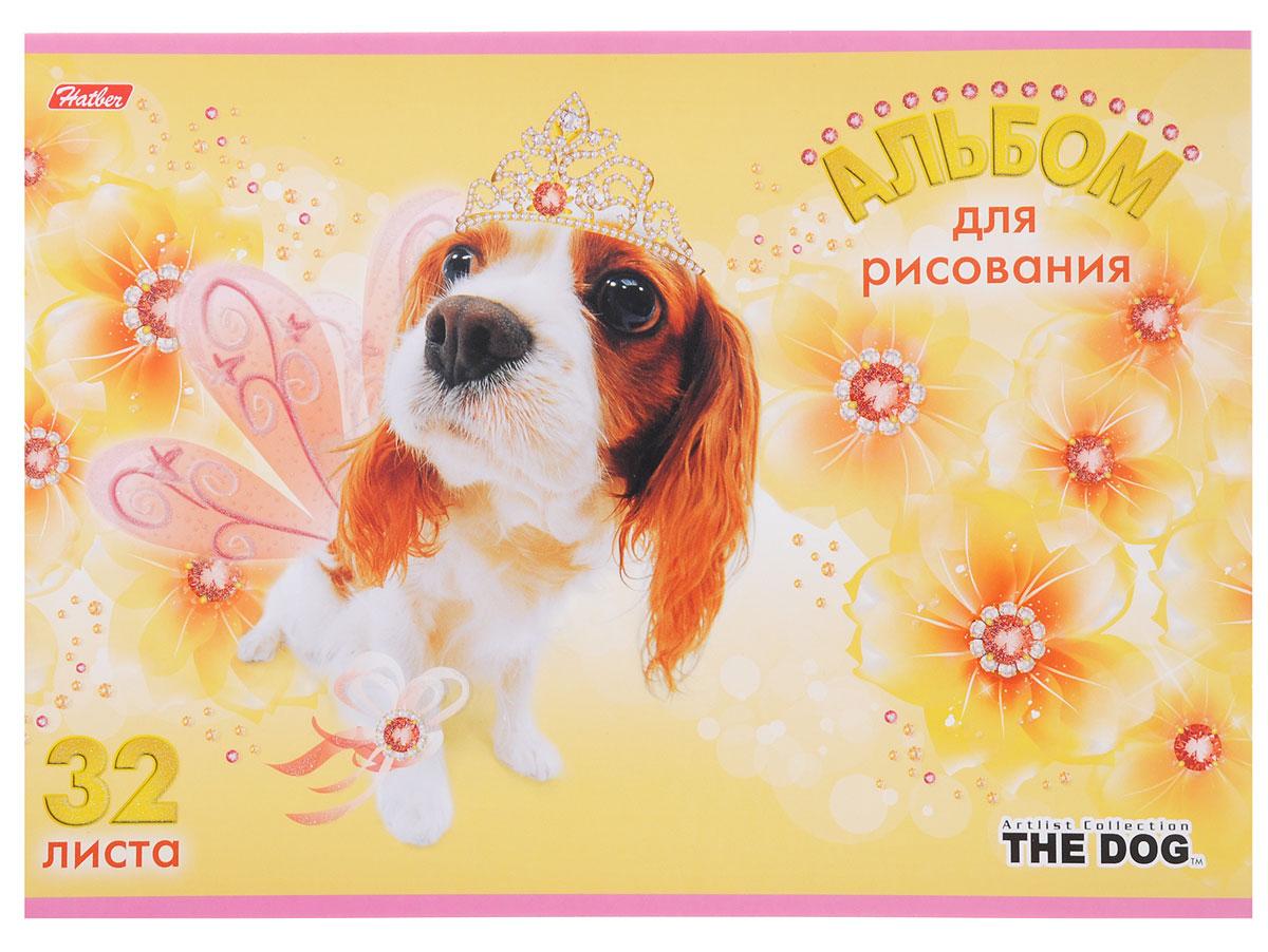 Hatber Альбом для рисования The Dog 32 листа цвет желтый72523WDАльбом для рисования Hatber The Dog порадует маленького художника и вдохновит его на творчество. Альбом изготовлен из белоснежной бумаги с яркой обложкой из плотного картона, оформленной изображением собачки. Внутренний блок альбома, соединенный металлическими скрепками, состоит из 32 листов. Высокое качество бумаги позволяет рисовать в альбоме карандашами, фломастерами, акварельными и гуашевыми красками.