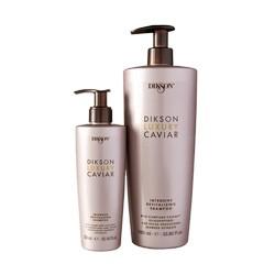 Dikson Luxury Caviar Интенсивный ревитализирующий шампунь с Complexe Caviar Intensive And Revitalising Shampoo 1000 млFS-00897Шампунь является мультивитаминной ванной для волос. Мягко очищает волосы и придаёт им силу, омолаживая и делая их более плотными. Совместное воздействие экстракта икры, олигопептидов и водорослей Fucus Vesiculosus, входящих в состав Complexe Caviar, помогают превратить ослабленные, тусклые и состаренные временем волосы в сильные, сияющие и помолодевшие. Для достижения оптимальных результатов использовать в комплексе с другими средствами линии DIkson Luxury Caviar. Активные компоненты: Экстракт чёрной икры, экстракт бурых водорослей Fucus.Результат: Волосы становятся крепкими, плотными и блестящими.