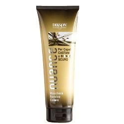 Dikson Nuance Оттеночная маска для коричневых и темно-русых волос Maschera Raviva Color for Brown and Dark Blond Hair 250 млFS-36054Поддерживает стойкость цвета и усиливает блеск окрашенных, мелированных и натуральных волос. Без оксида, аммиака и п-фенилендиамина. Маска быстро и эффективно улучшает структуру, придает глянцевый блеск и делает волосы более послушными в укладке. Одновременно она тонирует волосы, делая цвет более ровным и красивым. Рекомендована для окрашенных и мелированных волос.Результат: Волосы приобретают насыщенный красный оттенок.Активные компоненты: Цетеариловый спирт, пропилен гликоль, кондиционирующее вещество, отдушка, смягчающее средство, консервант