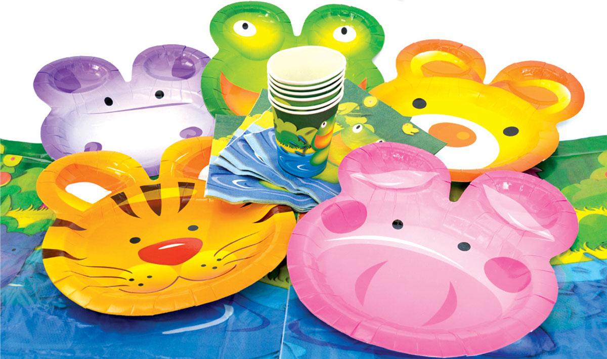 Action! Набор для праздника Веселые животные 19 предметов - Сервировка праздничного стола