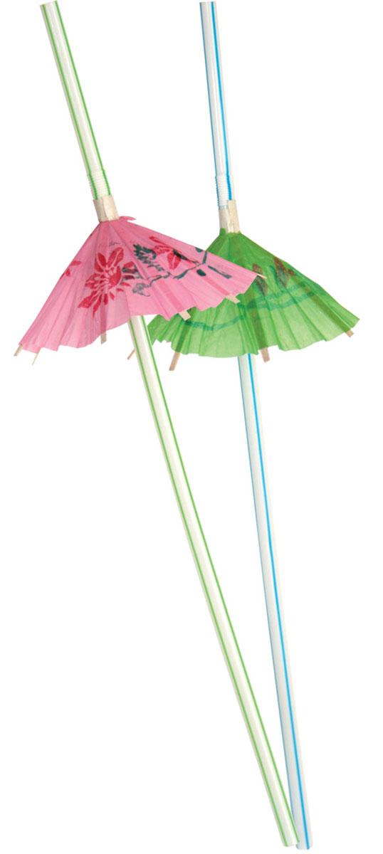 Action! Коктейльные трубочки Зонтики 12 шт 24 см