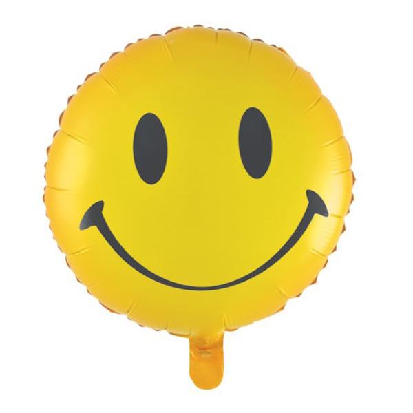 Action! Шар фольгированный Смайлик -  Воздушные шарики