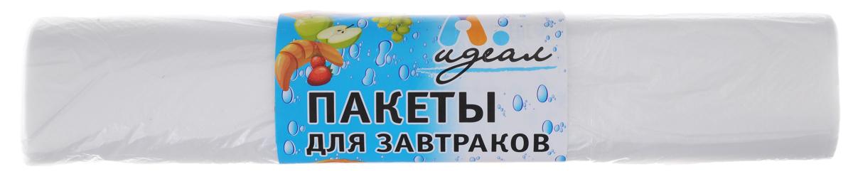 Пакеты для завтраков Идеал, 100 шт21395599Пакеты Идеал, изготовленные из полиэтилена, идеально подходят для упаковки завтраков в школу, на работу и загородные поездки. Размер пакетов: 25 х 32 см.