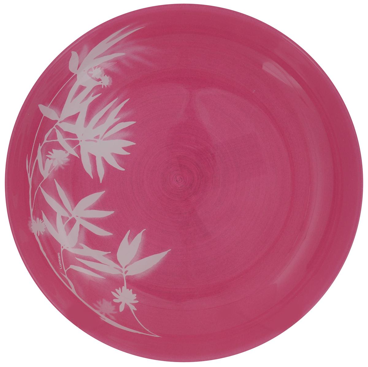 Тарелка обеденная Luminarc Darjeeling Pink, диаметр 20 смJ7808Обеденная тарелка Luminarc Darjeeling Pink, изготовленная из высококачественного стекла, имеет изысканный внешний вид. Яркий дизайн придется по вкусу и ценителям классики, и тем, кто предпочитает утонченность. Тарелка Luminarc Darjeeling Pink идеально подойдет для сервировки стола и станет отличным подарком к любому празднику.Диаметр (по верхнему краю): 20 см.