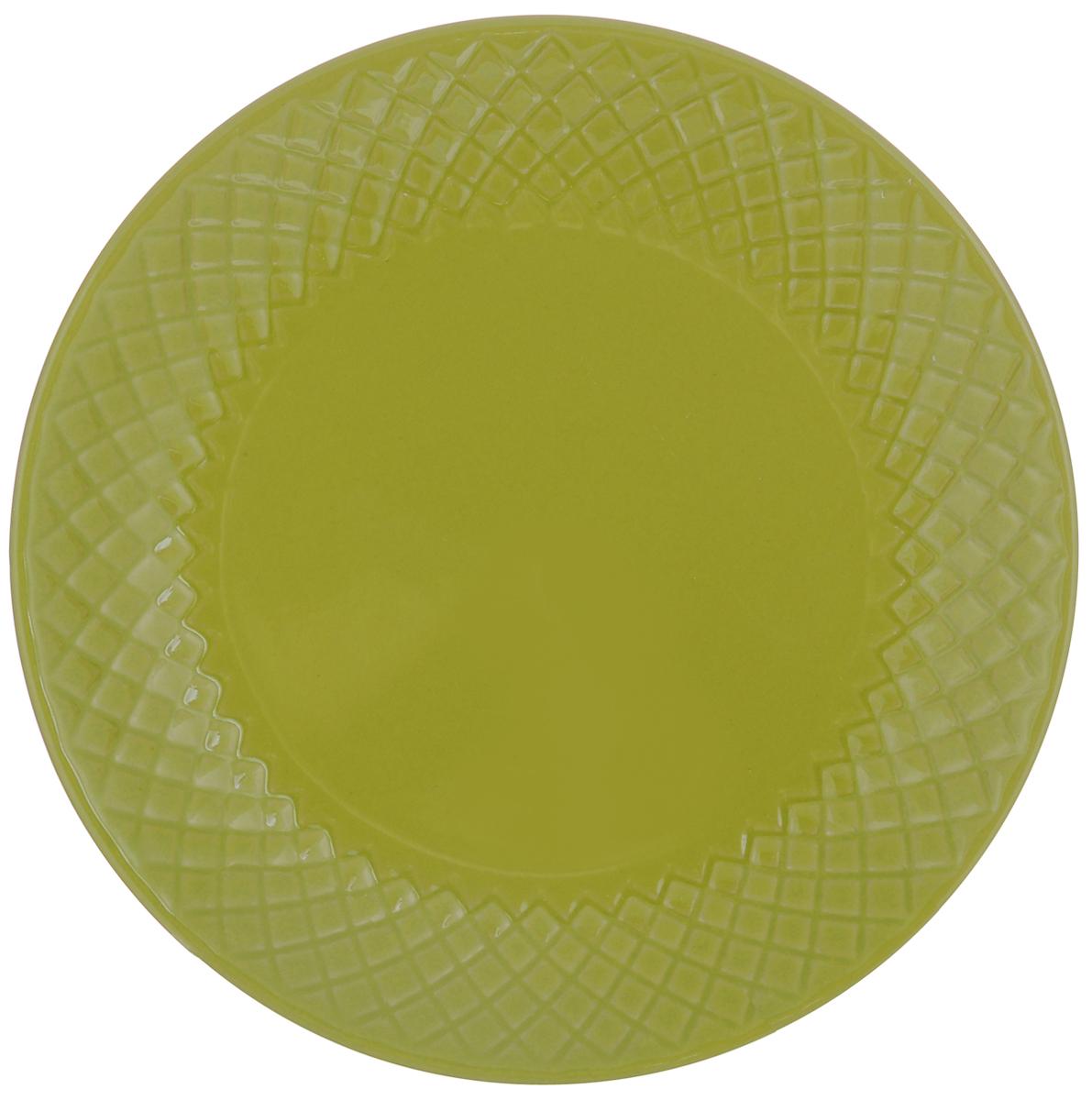 Тарелка обеденная Walmer Amber, цвет: зеленый, диаметр 20 см115610Тарелка обеденная Walmer Amber, изготовленная из высококачественной керамики, имеет изысканный внешний вид. Яркий дизайн придется по вкусу и ценителям классики, и тем, кто предпочитает утонченность. Тарелка Walmer Amber идеально подойдет для сервировки стола и станет отличным подарком к любому празднику.Диаметр (по верхнему краю): 20 см.