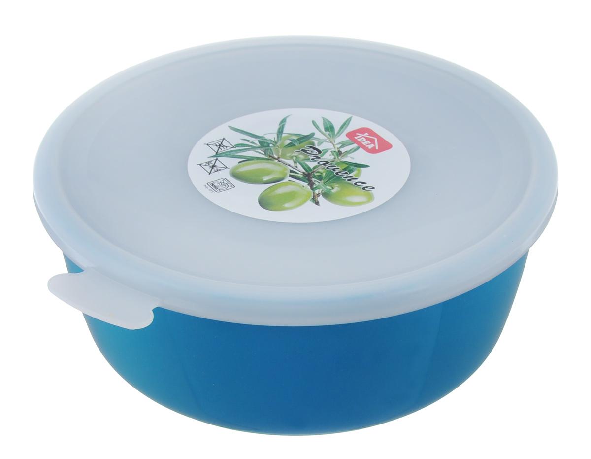Миска Idea Прованс, с крышкой, цвет: бирюзовый, 1 л115510Миска Idea Прованс изготовлена из высококачественного пищевого полиэтилена (одного из видов пластика) и снабжена крышкой из полистирола. Крышка плотно и герметично закрывается, дольше сохраняя продукты свежими. Изделие подходит для хранения и переноски пищевых продуктов. Не рекомендуется использовать в микроволновой печи и морозильной камере. Можно мыть в посудомоечной машине. Диаметр миски (по верхнему краю): 17 см.