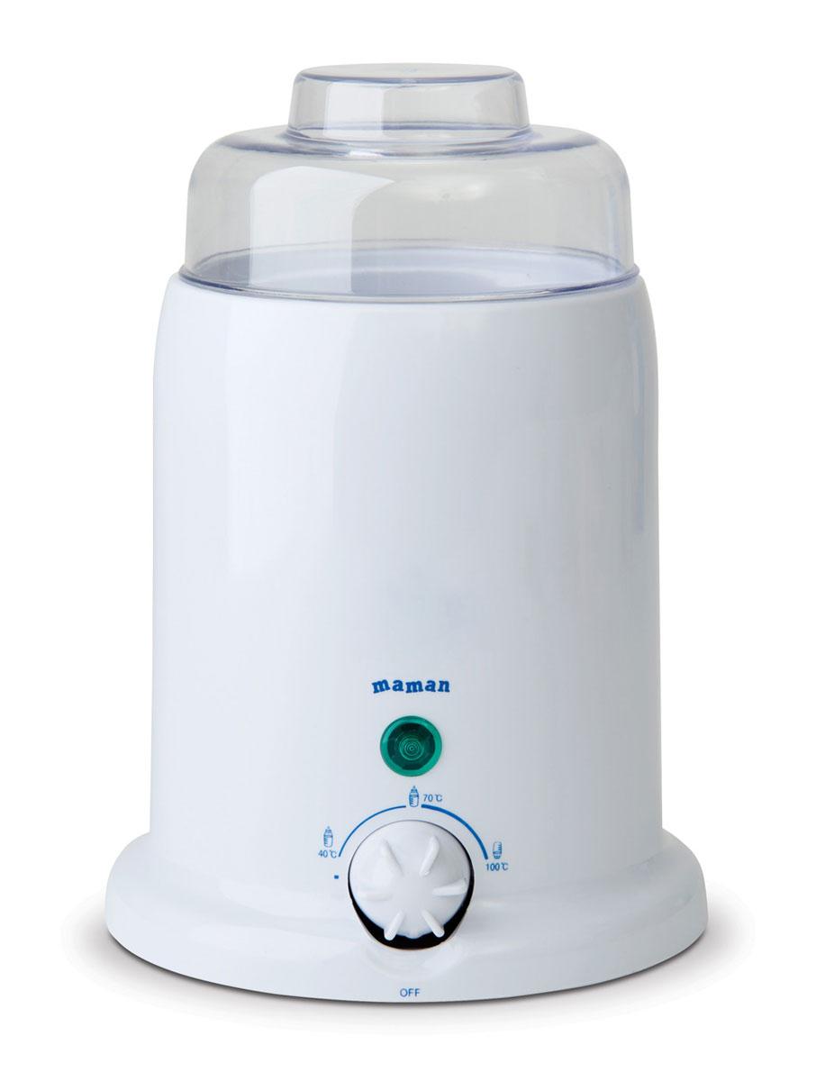 Универсальный подогреватель предназначен для подогрева детского питания. Подходит для всех типов бутылочек, емкостью от 100 мл до 300 мл. Подогреватель нагревает питание за несколько минут до необходимой температуры и автоматически поддерживает заданную температуру нагрева. Стерилизует бутылочки, соски и пустышки. В комплект входит специальный лифт для удобного извлечения баночек с детским питанием. Устройство имеет безопасный, экономичный и надежный нагревательный элемент, а также индикатор состояния нагрева и готовности. Прибор работает от сети.