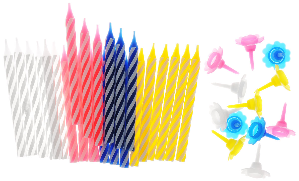 Action! Свечи для торта Классика 24 шт  товары для праздника поиск свечи для торта с держателями мини 24 шт