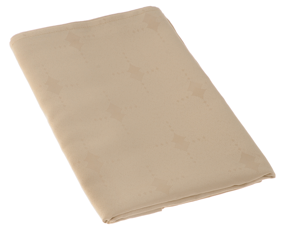 Скатерть Schaefer, прямоугольная, цвет: бежевый, 130 х 160 см. 07507-427Ветерок 2ГФИзящная прямоугольная скатерть Schaefer, выполненная из плотного полиэстера, станет украшением кухонного стола. Изделие декорировано красивым узором в виде ромбов.За текстилем из полиэстера очень легко ухаживать: он не мнется, не садится и быстро сохнет, легко стирается, более долговечен, чем текстиль из натуральных волокон.Использование такой скатерти сделает застолье торжественным, поднимет настроение гостей и приятно удивит их вашим изысканным вкусом. Также вы можете использовать эту скатерть для повседневной трапезы, превратив каждый прием пищи в волшебный праздник и веселье. Это текстильное изделие станет изысканным украшением вашего дома!