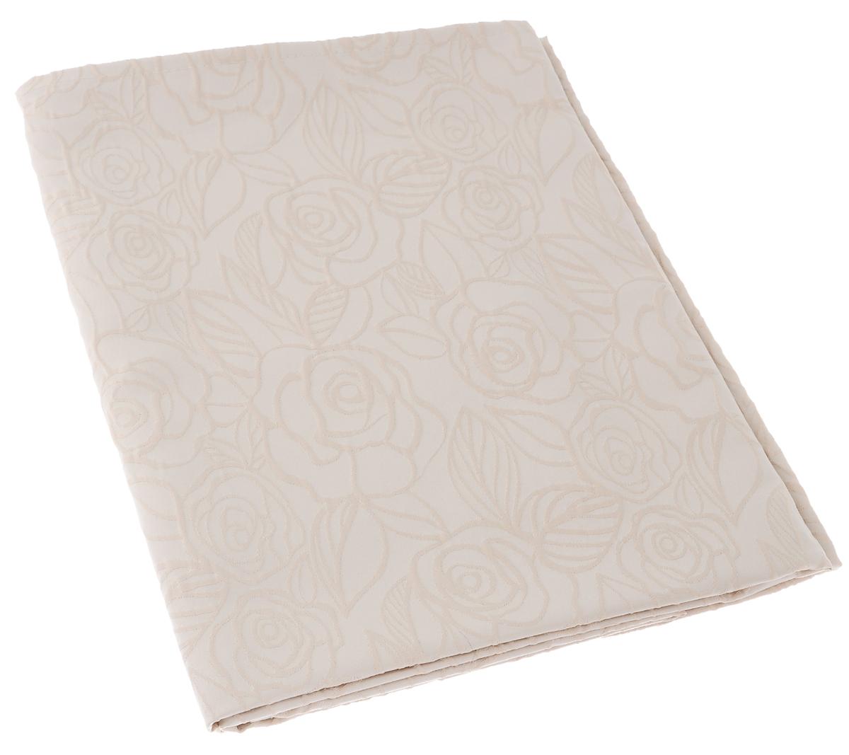 Скатерть Schaefer, прямоугольная, цвет: светло-бежевый, 130 х 160 см. 07550-427VT-1520(SR)Изящная прямоугольная скатерть Schaefer, выполненная из плотного полиэстера с водоотталкивающей пропиткой, станет украшением кухонного стола. Изделие декорировано рельефным цветочным узором.За текстилем из полиэстера очень легко ухаживать: он не мнется, не садится и быстро сохнет, легко стирается, более долговечен, чем текстиль из натуральных волокон.Использование такой скатерти сделает застолье торжественным, поднимет настроение гостей и приятно удивит их вашим изысканным вкусом. Также вы можете использовать эту скатерть для повседневной трапезы, превратив каждый прием пищи в волшебный праздник и веселье. Это текстильное изделие станет изысканным украшением вашего дома!