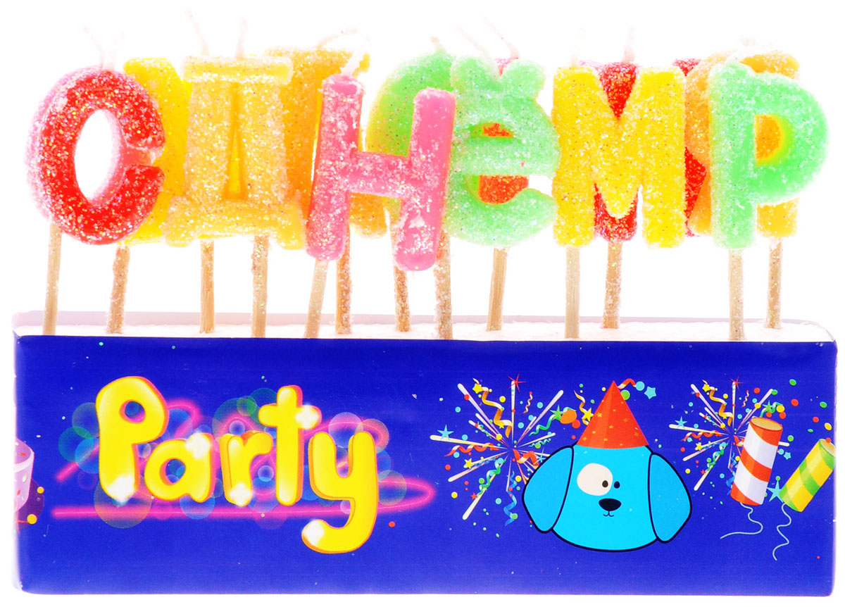 Action! Свечи-буквы для торта С Днем Рождения 13 шт свечи с днем рождения на торт купить