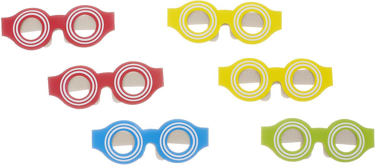 Action! Маска карнавальная Веселые очки 6 шт -  Маски карнавальные