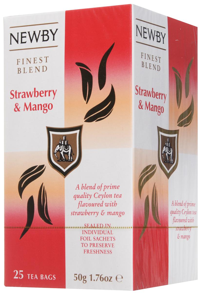 Newby Mango & Strawberry черный чай в пакетиках, 25 шт101246Черный чай Newby Mango & Strawberry обладает легко узнаваемым и приятным фруктово-ягодным ароматом, который придает готовому напитку необыкновенную легкость и мягкость.