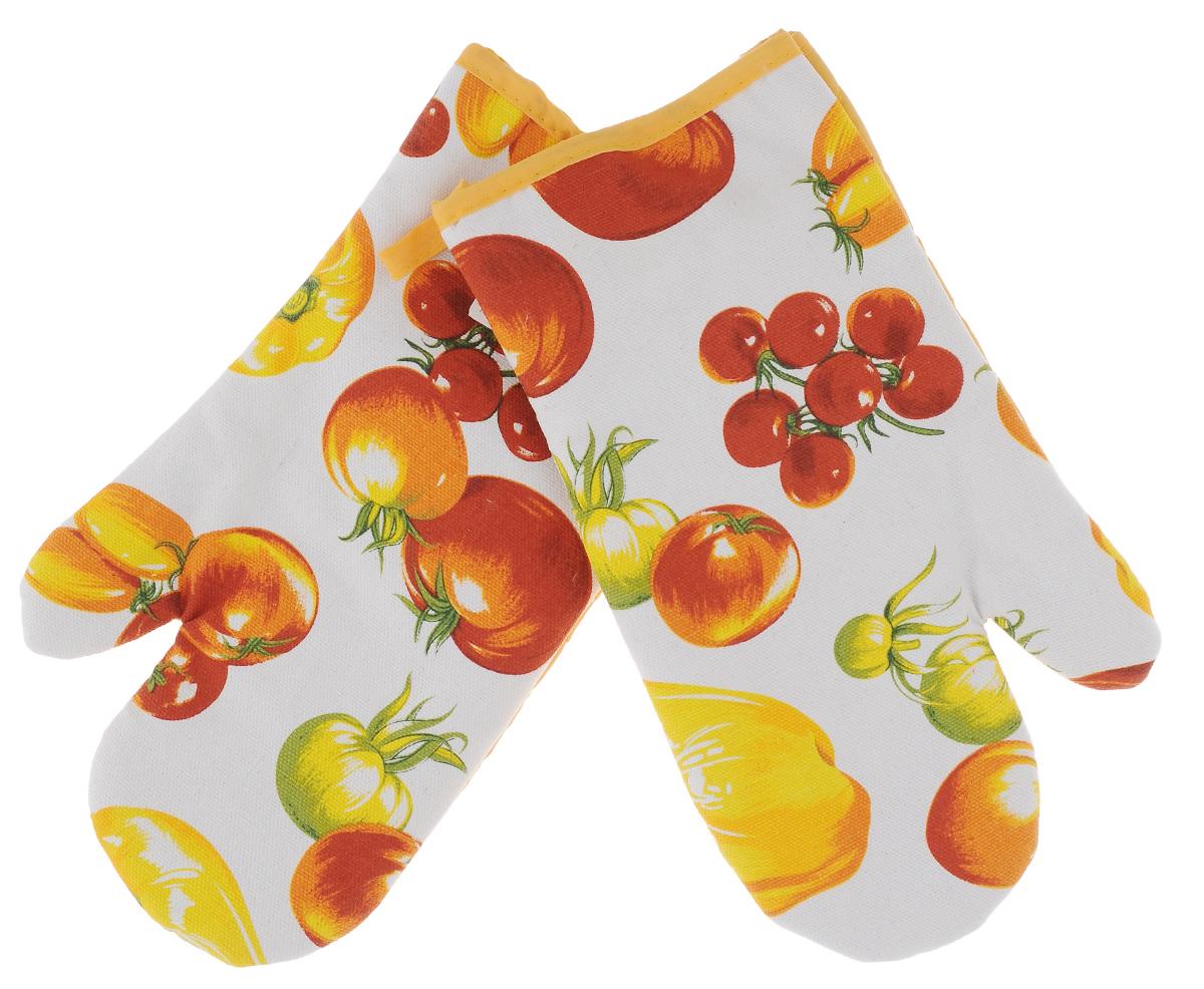 Прихватки-варежки Schaefer Овощной урожай, цвет: белый, желтый, красный, 17 х 29 см, 2 штVT-1520(SR)Красочные прихватки-варежки для горячего Schaefer Овощной урожай, изготовленные из 100% хлопка, станут украшением любой кухни. С помощью специальной петельки изделия можно вешать на крючок. В наборе - 2 прихватки (на правую и левую руку). Прихватки-варежки Schaefer Овощной урожай - отличный вариант для практичной и современной хозяйки.