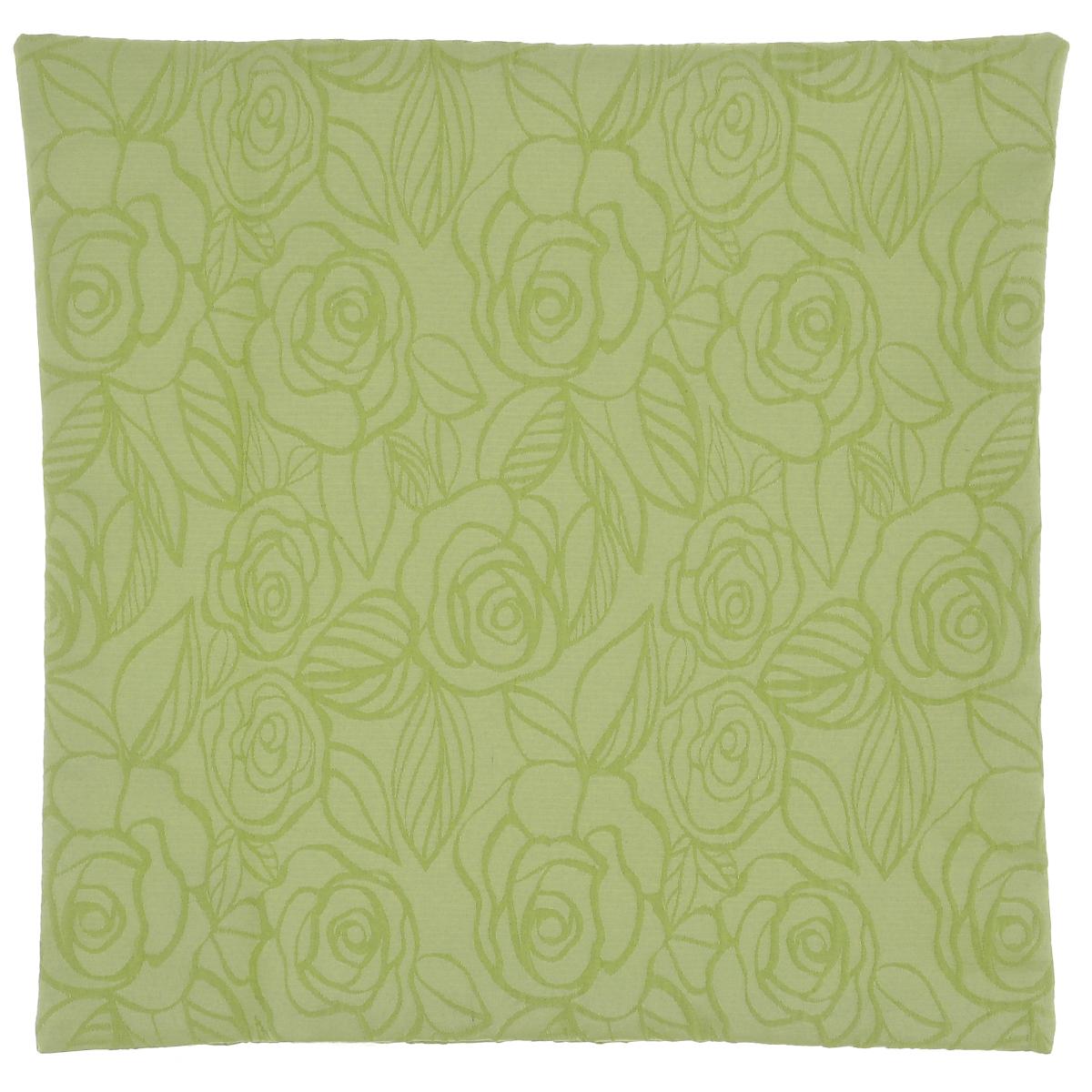 Наволочка декоративная Schaefer, цвет: светло-зеленый, 40 х 40 см16056Наволочка Schaefer выполнена из полиэстера и украшена цветочным узором. Наволочка застегивается на потайную застежку-молнию.Изделия из полиэстера легко стирать: они не мнутся, не садятся и быстро сохнут, они более долговечны, чем изделия из натуральных волокон.Это текстильное изделие станет удобным и комфортным украшением вашего дома!