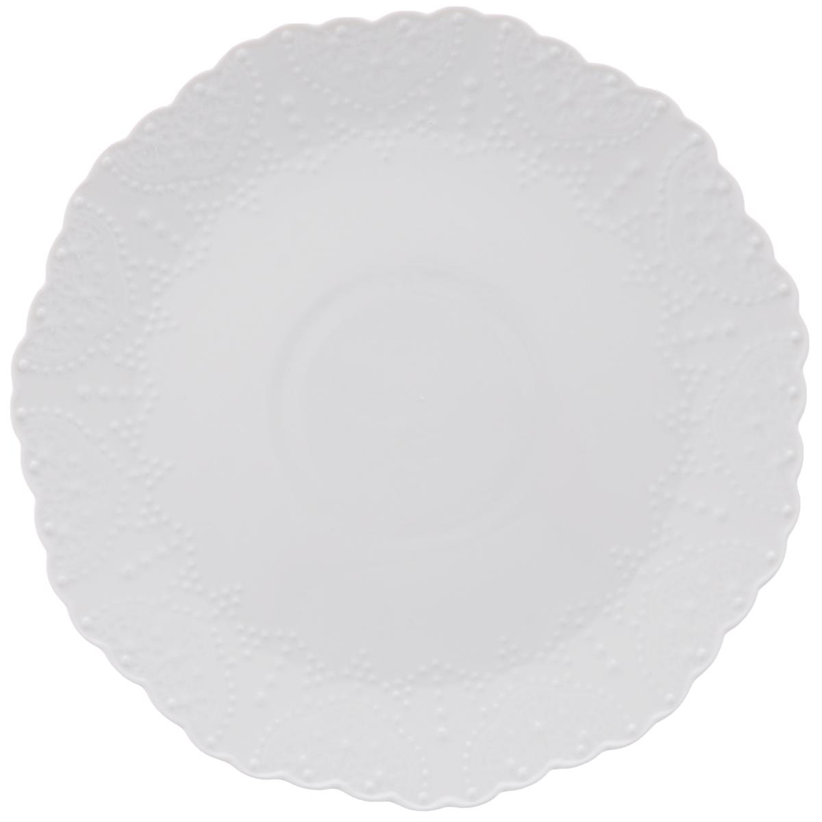 Тарелка обеденная Walmer Vivien, цвет: белый, диаметр 26 см115510Обеденная тарелка Walmer Vivien, изготовленная из высококачественного фарфора, имеет изысканный внешний вид. Яркий дизайн придется по вкусу и ценителям классики, и тем, кто предпочитает утонченность. Тарелка Walmer Vivien идеально подойдет для сервировки стола и станет отличным подарком к любому празднику.Диаметр (по верхнему краю): 26 см