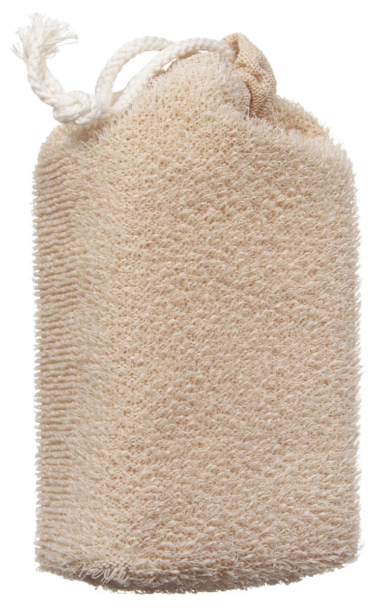 Губка для тела Riffi, цвет: бежевый. 747 riffi перчатки для пилинга цвет салатовый