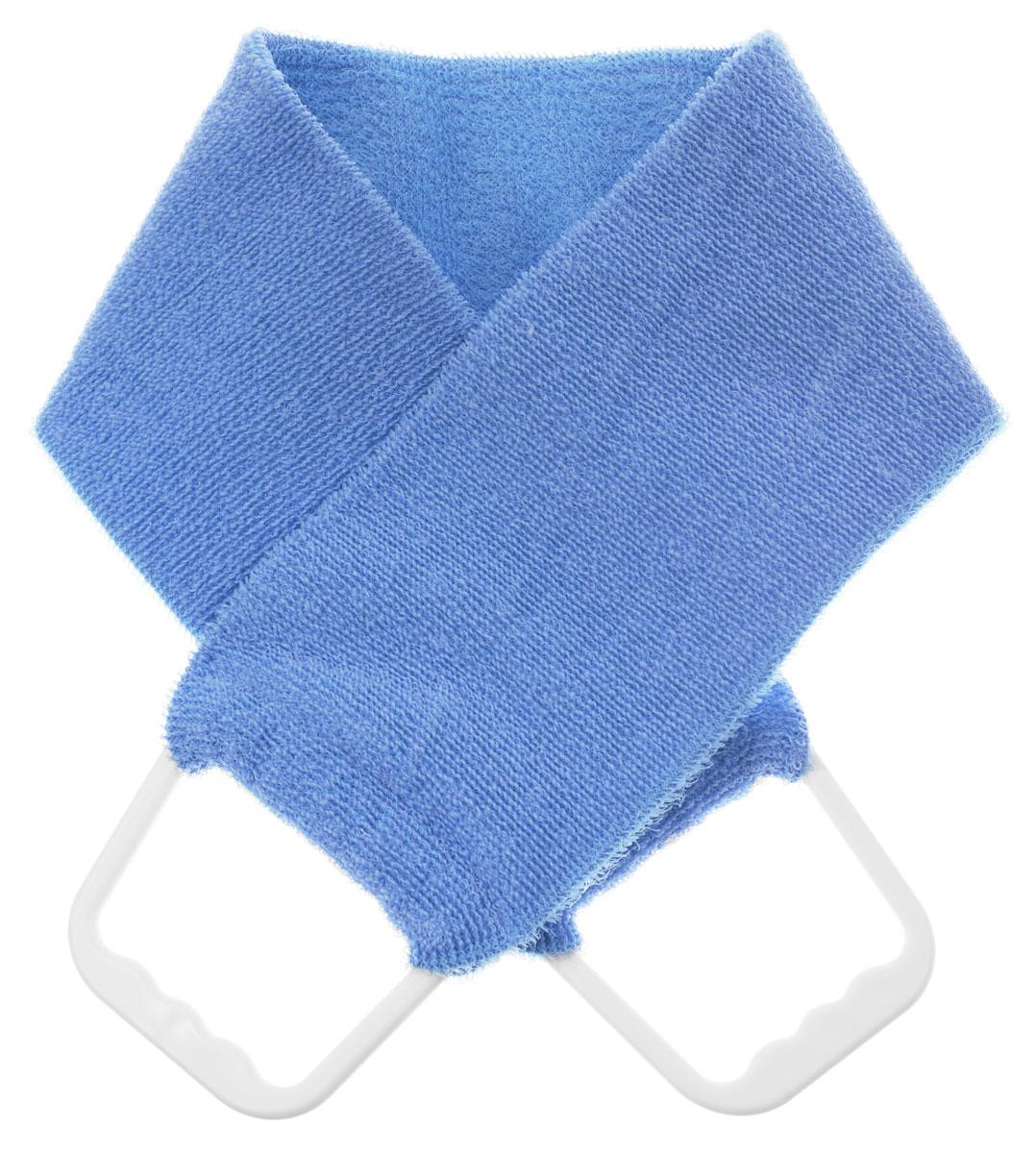 Riffi Мочалка-пояс, двухсторонняя, цвет: голубой. 727 riffi повязка для волос цвет коралловый