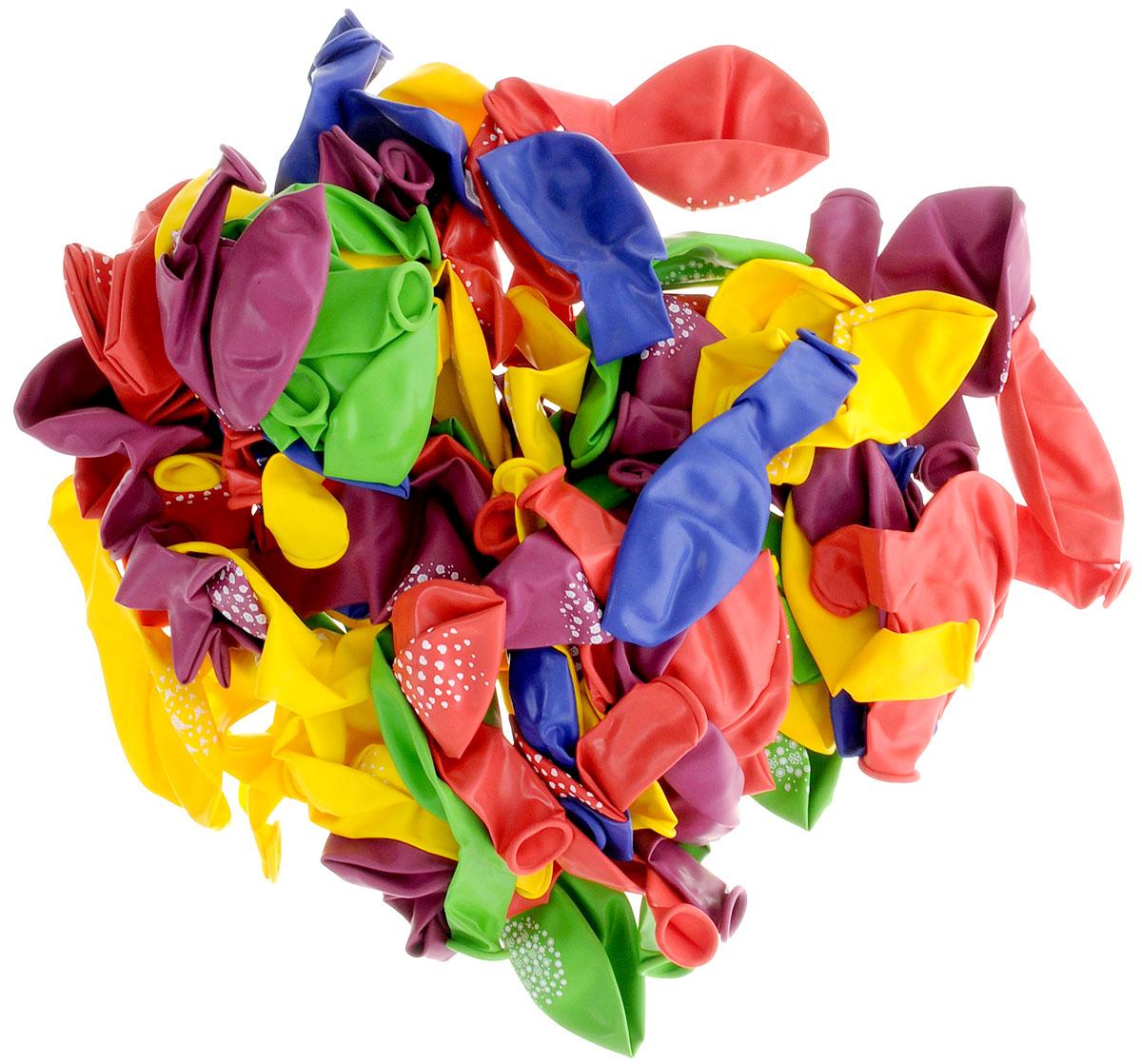 Action! Шары воздушные с рисунком 30 см 100 шт -  Воздушные шарики
