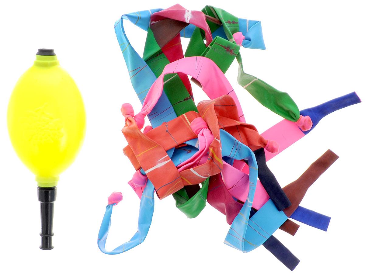Action! Шары воздушные Свистящие ракеты с насосом 10 шт -  Воздушные шарики