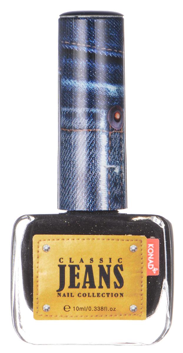 KONAD Коллекция Classic Jeans текстурный лак Nail 01 - Black Jeans 10 мл31241Текстурный лак модной джинсовой расцветки, тренд сезона