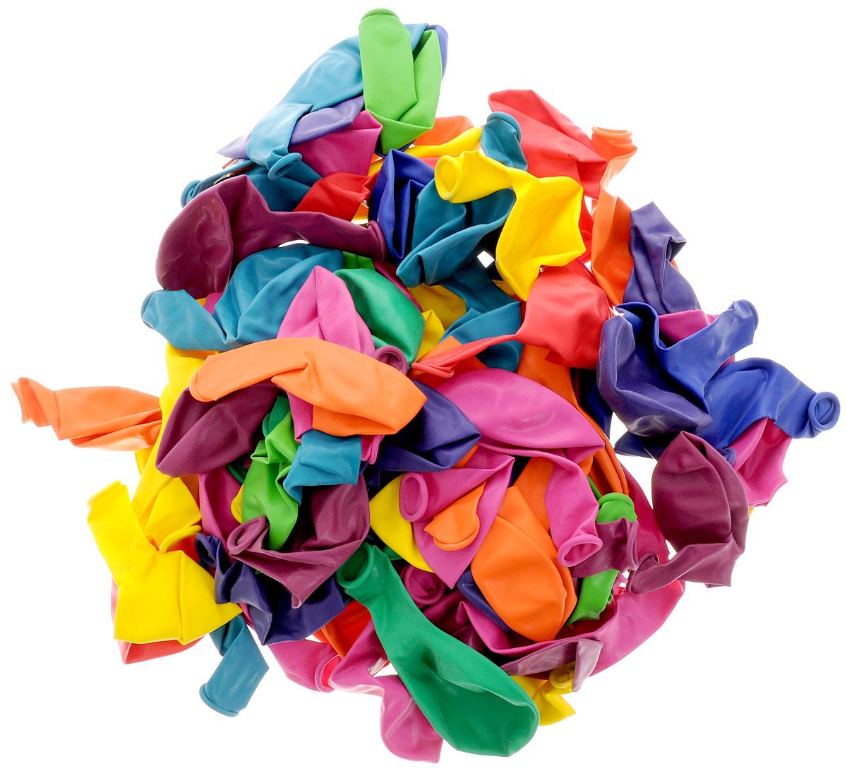 Action! Шары воздушные разноцветные 30 см 100 шт - Воздушные шарики