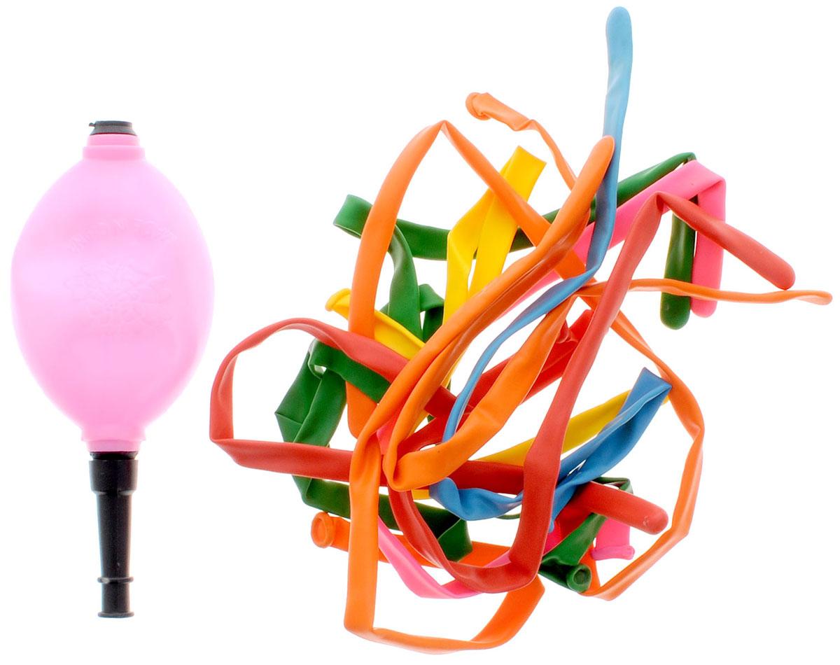 Action! Шары воздушные для моделирования с насосом 10 шт -  Воздушные шарики