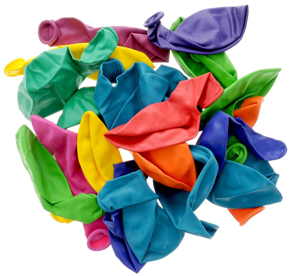 Набор разноцветных латексных шариков - высочайшего качества. Прочные шары округлой формы разного цвета и без рисунков. Свадьба, день рождения, или просто признание в любви - воздушные шарики сделают любое событие незабываемым! Эти яркие праздничные аксессуары поднимут настроение вам и вашим гостям! Набор содержит 20 разноцветных шаров.