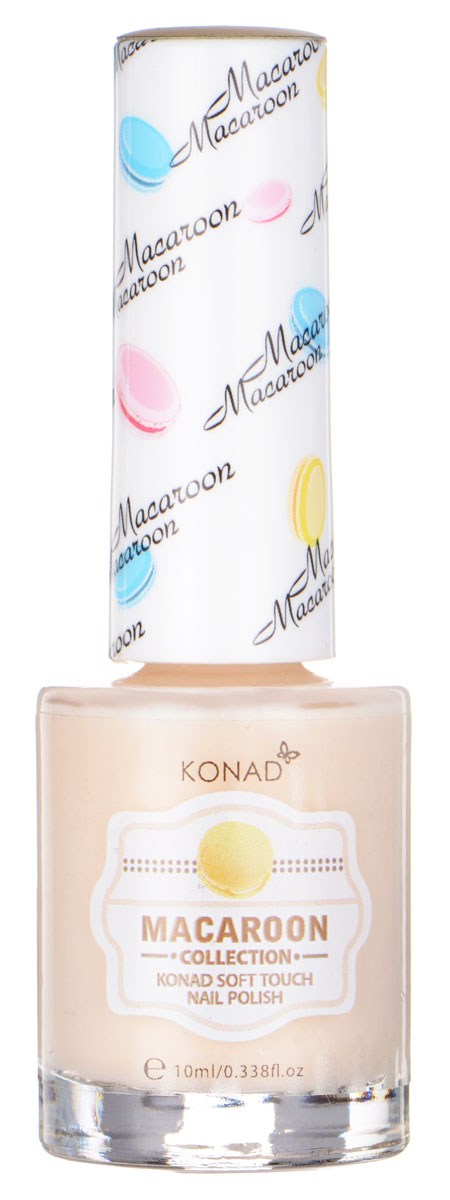 KONAD Macaroon матовые пастельные Soft Touch Nail 03 - Vanilla Macaroon 10 мл28032022Матовый пастельный лак, нежнее нежного, как воздушное безе Макарун