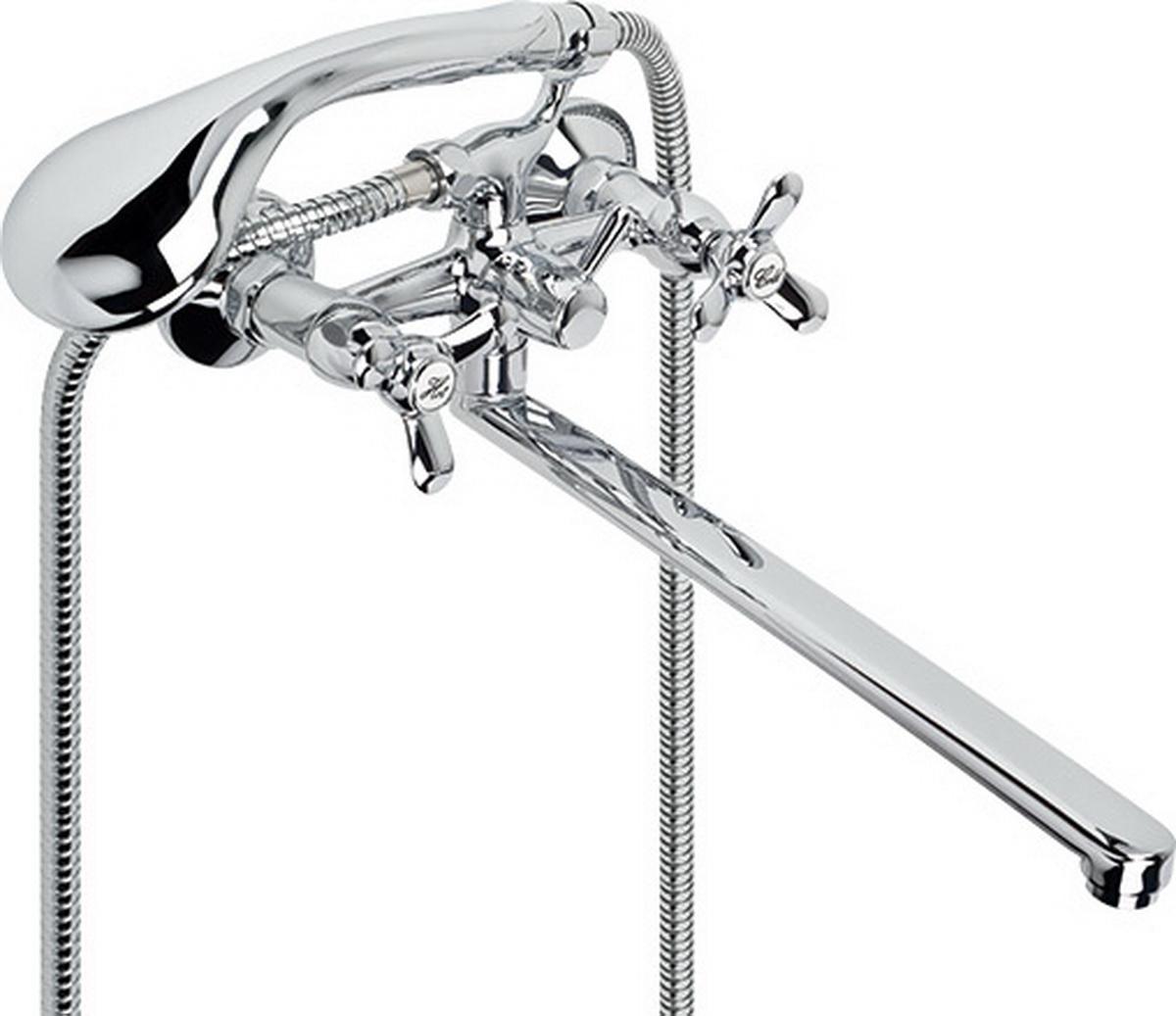 Смеситель для ванны и умывальника Argo Omega, керамический, длина 32,5 см3520Смеситель для ванны и умывальника Argo Omega предназначен для смешивания холодной и горячей воды, устанавливается на стену. Выполнен из высококачественного металла с покрытием из никеля и хрома.Запорный механизм: кран букса 1/2 90° Керамика 7,7х20 Тип дайвотера: клапанныйАэратор: ячейковый М24х1 Only-Plast, 10-13 л/мин при 0,3 МПаКрепеж: эксцентрик 3/4х1/2, прокладка-фильтр Комплектация:Душевой шланг 150 см, хромированная нержавеющая сталь, двойной замок, 1/2 Душевая лейка Duo