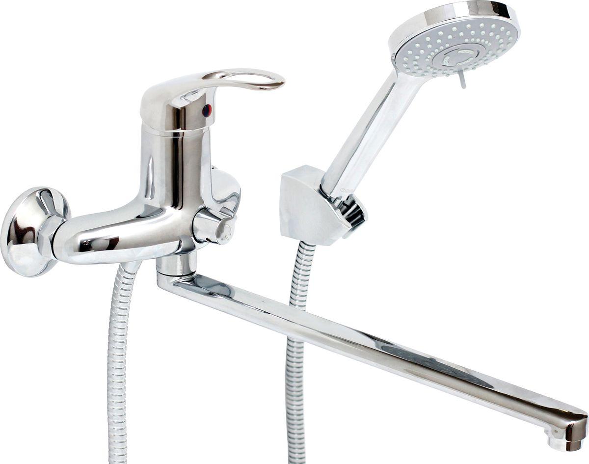 Смеситель для ванны и умывальника Argo Jamaica, керамический, длина 32,5 см68/5/3Смеситель для ванны и умывальника Argo Jamaica предназначен для смешивания холодной и горячей воды, устанавливается на стену. Выполнен из высококачественного металла с покрытием из никеля и хрома.Запорный механизм: картридж d-40 мм Short-size Тип дайвотера: керамбуксаАэратор: ячейковый М24х1 OnlyPlast 10-13 л/мин при 0,3 МПаКрепеж: усиленный эксцентрик 3/4 x 1/2, прокладка-фильтрКомплектация:Душевой шланг 150 см, хромированная нержавеющая сталь, двойной замок, 1/2Душевая лейка Lux трехпозиционная: душ, массаж, аэроКронштейн