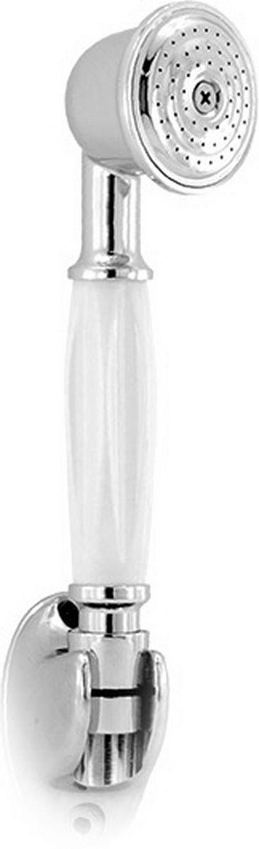 Лейка душевая Argo Retro, цвет: белый, 8,5 х 24 см28593001Лейка душевая Argo Retro, выполненная из металла, воплощает в себе стильную простоту и комфорт виспользовании. Внутренняя конструкция изделия обеспечивает достаточный напор струи даже при низком давлении воды в системе водопровода.Душевая лейка Argo Retro удобна и практична в работе.Размер лейки: 8,5 х 24 см.