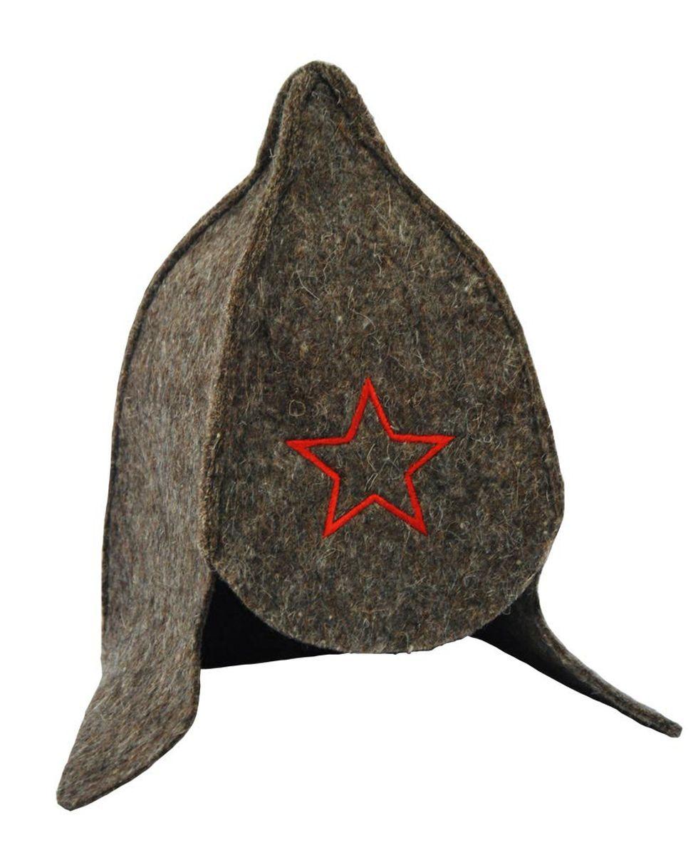 Шапка для бани и сауны Proffi Буденовка, цвет: темно-серый531-301Банная шапка Proffi Буденовка изготовлена из высококачественного войлока и декорирована вышивкой в виде звезды. Банная шапка - это незаменимый аксессуар для любителей попариться в русской бане и для тех, кто предпочитает сухой жар финской бани. Кроме того, шапка защитит волосы от сухости и ломкости, голову от перегрева и предотвратит появление головокружения. Такая шапка станет отличным подарком для любителей отдыха в бане или сауне.Обхват головы: 70 см.Высота шапки: 32 см.