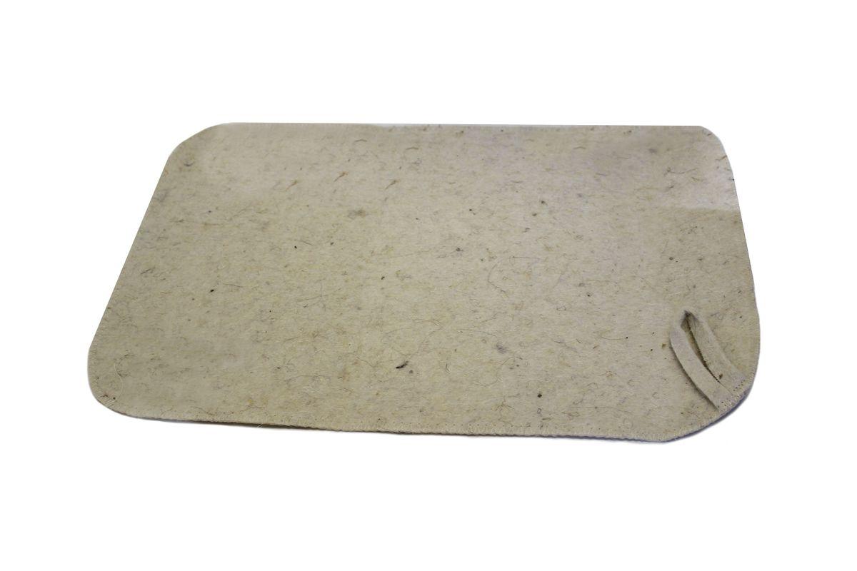 Коврик для бани и сауны Proffi Sauna, цвет: молочный, 47 х 31 см531-105Коврик для бани и сауны Proffi Sauna изготовлен из 90% шерсти, 10% лавсана. Изделие защитит вас от высоких температур при контакте с горячей лавкой в парилке. Коврик - это незаменимый аксессуар для любителей попариться в русской бане и для тех, кто предпочитает сухой жар финской бани. На коврике имеется петелька, с помощью которой его можно повесить на крючок в предбаннике.Размер коврика: 47 х 31 см.