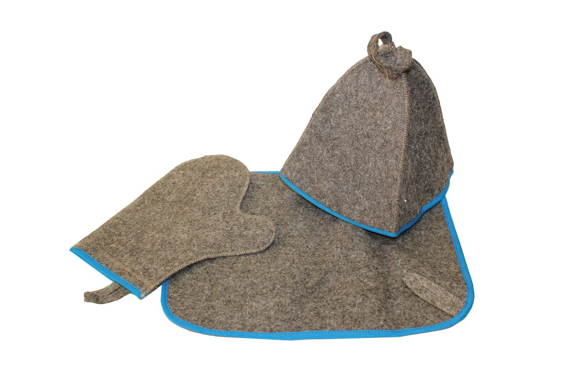 Набор для бани и сауны Proffi Home, 3 предмета. PS0184787502Оригинальный набор для бани Proffi Home включает в себя шапку, рукавицу и коврик. Шапка, рукавица и коврик - это незаменимые аксессуары для любителей попариться в русской бане и для тех, кто предпочитает сухой жар финской бани. Шапка защитит волосы от сухости и ломкости, голову от перегрева и предотвратит появление головокружения. Рукавица обезопасит ваши руки от появления ожогов, а коврик - от высоких температур при контакте с горячей лавкой в парилке. На изделиях имеются петельки, с помощью которых их можно повесить на крючок в предбаннике. Такой набор станет отличным подарком для любителей отдыха в бане или сауне.