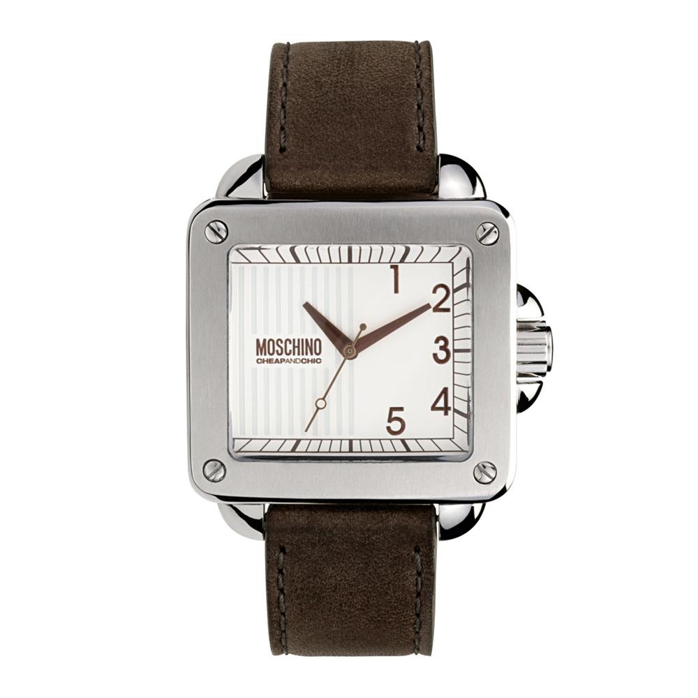 Часы мужские наручные Moschino Unit Square Gent, цвет: коричневый. MW0274BM8434-58AEЧасы наручные Moschino MW0274Водостойкость: 30м (3 АТМ)