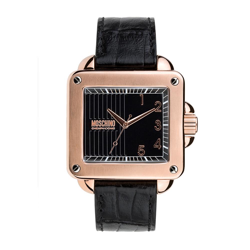 Часы мужские наручные Moschino Unit Square Gent, цвет: черный. MW02788-2Часы наручные Moschino MW0278Водостойкость: 30м (3 АТМ)
