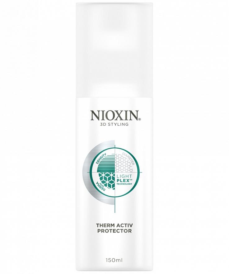 Nioxin 3D Styling Therm Activ Protector - Термозащитный спрей 150 млFS-00897Спрей защищает волосы от повреждений при работе с горячими инструментами, делая их упругими, уменьшая их ломкость, придавая блеск. Профессиональная технология LightPlex - позволяет получить эффект более легких и эластичных волос, воздействуя на волосы как внутри, так и снаружи. Кондиционирующие вещества проникают в кортекс волоса, удерживая необходимую влагу и защищая волосы от воздействий окружающей среды, невесомые гибкие полимеры обволакивают волосы, упрощают их укладку без жесткой фиксации.