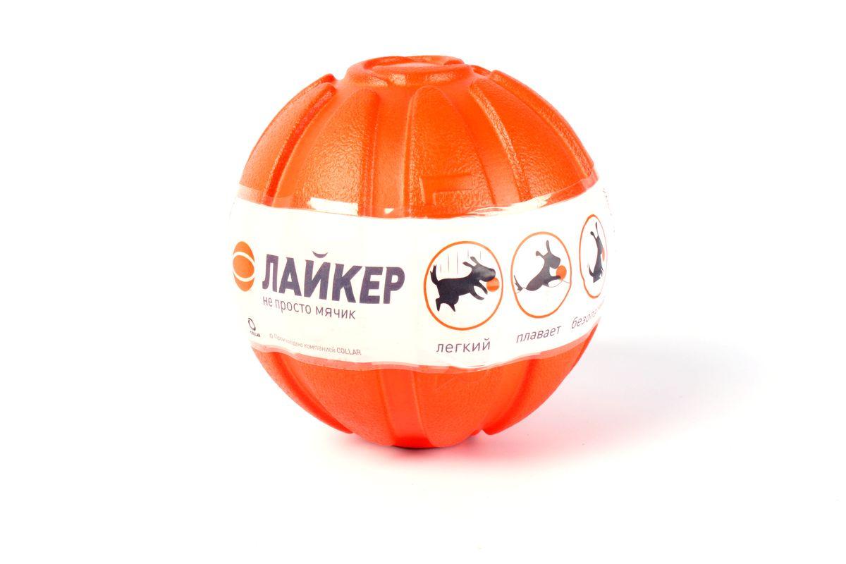 Мячик Liker, диаметр 7 см101246Мячик Liker - игрушка для собак. Уникальный материал, из которого изготовлен мячик Liker позволяет ему сочетать в себе лучшие свойства игрушек из разных материалов (резины, пластика, нейлона и хлопка). Лёгкий, манёвренный, легко бросать. Плавает, не тонет и почти полностью находится над поверхностью воды. Таким образом если собака не умеет плавать, то обучение/приучение к воде станет более эффективным. Безопасный, не токсичен, мягко прокусывается и не травмирует зубы/десна собаки. Кроме того мяч способствует очистке зубов собаки во время игры. Легко отмывается после игры. Мячик Liker практически не возможно потерять, из-за яркого оранжевого цвета.