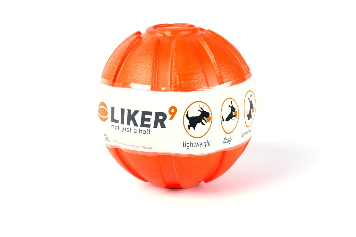 Мячик Liker, диаметр 9 см0120710Мячик Liker - игрушка для собак крупных пород. Благодаря уникальному материалу, мяч, лёгкий, его легко бросать и ловить. Он плавает. Игры на воде станут интереснее! Он почти полностью виден над поверхностью воды, его сложно не заметить. Он полностью безопасен для зубов и десен собаки. Материал легко прокусывается. Кроме того Liker способствует очистке зубов собаки во время игры. Легко отмывается после игры.