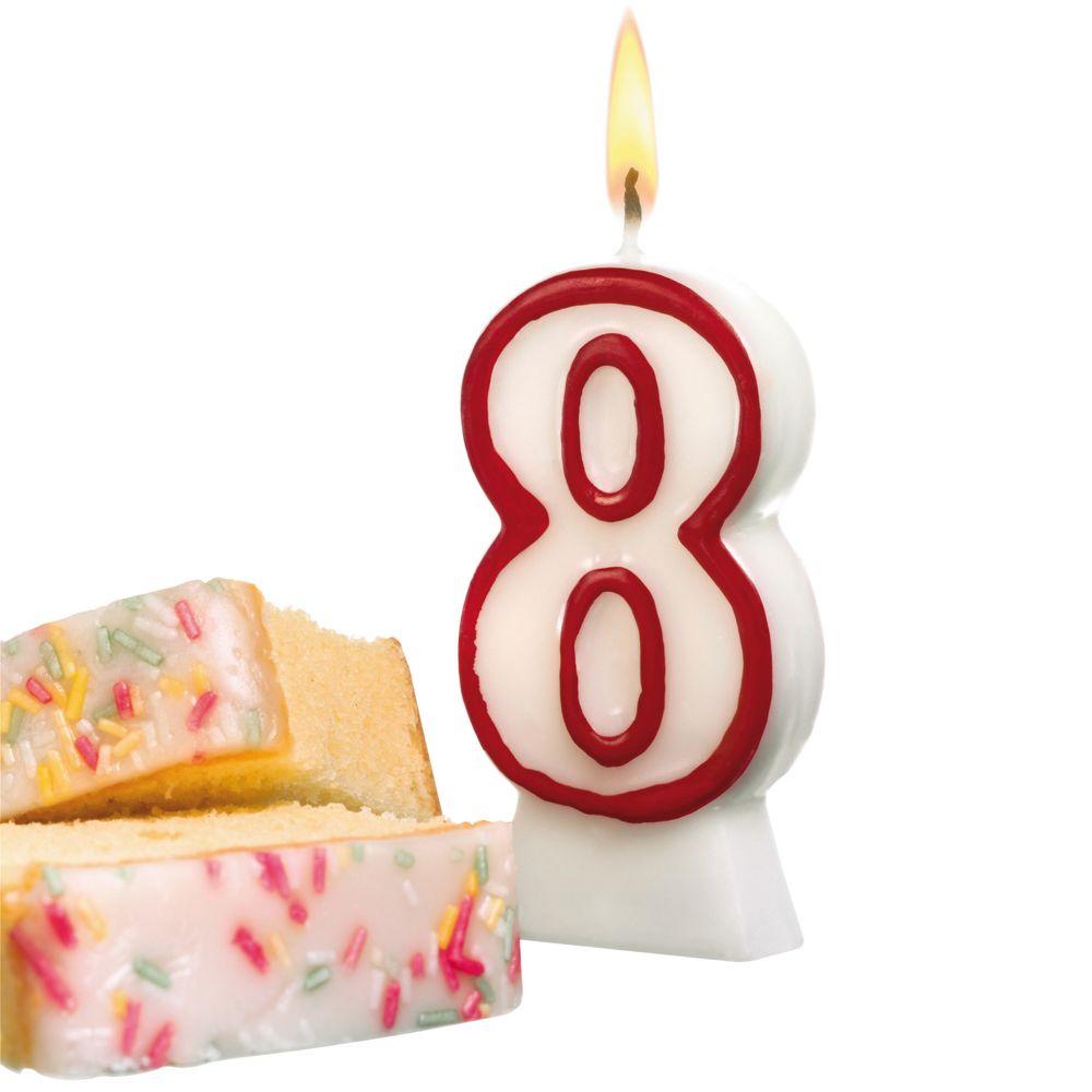 Susy CardСвеча-цифра для торта 8 лет Herlitz
