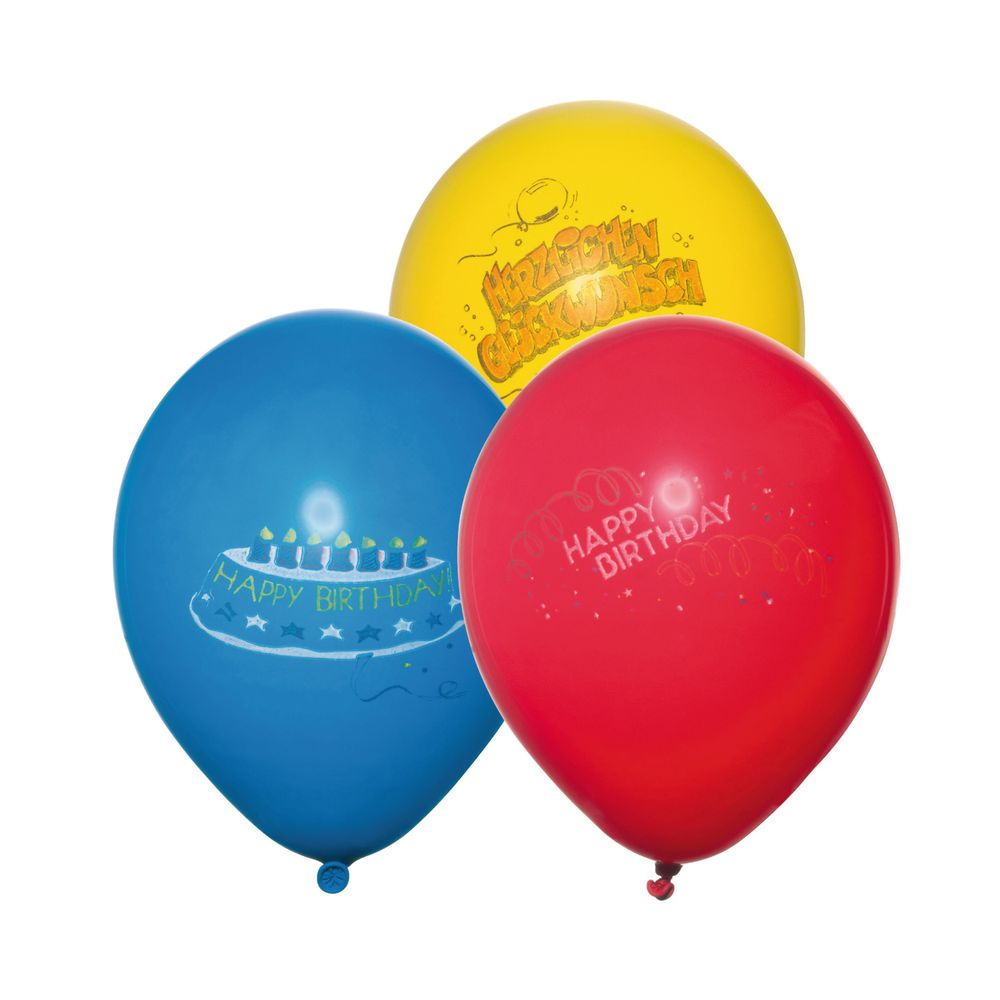 Susy Card Набор воздушных шариков Happy Birthday 6 шт