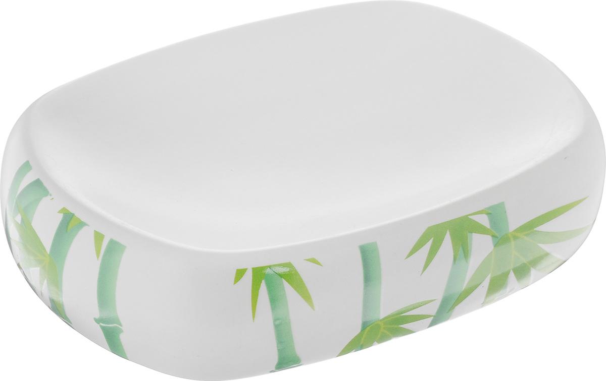 Мыльница Vanstore Green Bamboo, 12 х 8,5 х 3 смRG-D31SОригинальная мыльница Vanstore Green Bamboo выполнена из высококачественной керамики и украшена оригинальным рисунком, изделие отлично подойдет для вашей ванной комнаты.Такая мыльница создаст особую атмосферу уюта и максимального комфорта в ванной.Размер мыльницы: 12 х 8,5 х 3 см.
