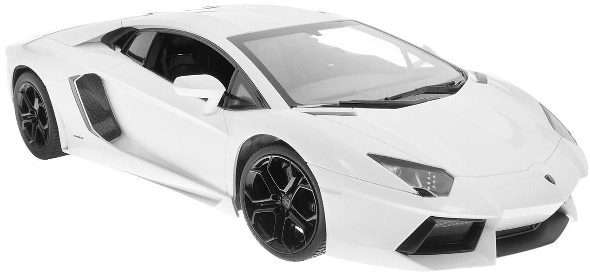 """Радиоуправляемая модель Rastar """"Lamborghini Aventador LP 700-4"""" станет отличным подарком любому мальчику! Все дети хотят иметь в наборе своих игрушек ослепительные, невероятные и крутые автомобили на радиоуправлении. Тем более, если это автомобиль известной марки с проработкой всех деталей, удивляющий приятным качеством и видом. Одной из таких моделей является автомобиль на радиоуправлении Rastar """"Lamborghini Aventador LP 700-4"""". Это точная копия настоящего авто в масштабе 1:10. Авто обладает неповторимым провокационным стилем и спортивным характером. Модель отличается потрясающей маневренностью, динамикой и покладистостью. Возможные движения: вперед, назад, вправо, влево, остановка. Имеются световые эффекты. Пульт управления работает на частоте 27 MHz. Машина работает от сменного аккумулятора (входит в комплект). Для работы пульта управления необходима 1 батарейка 9V (6F22) (не входит в комплект)."""