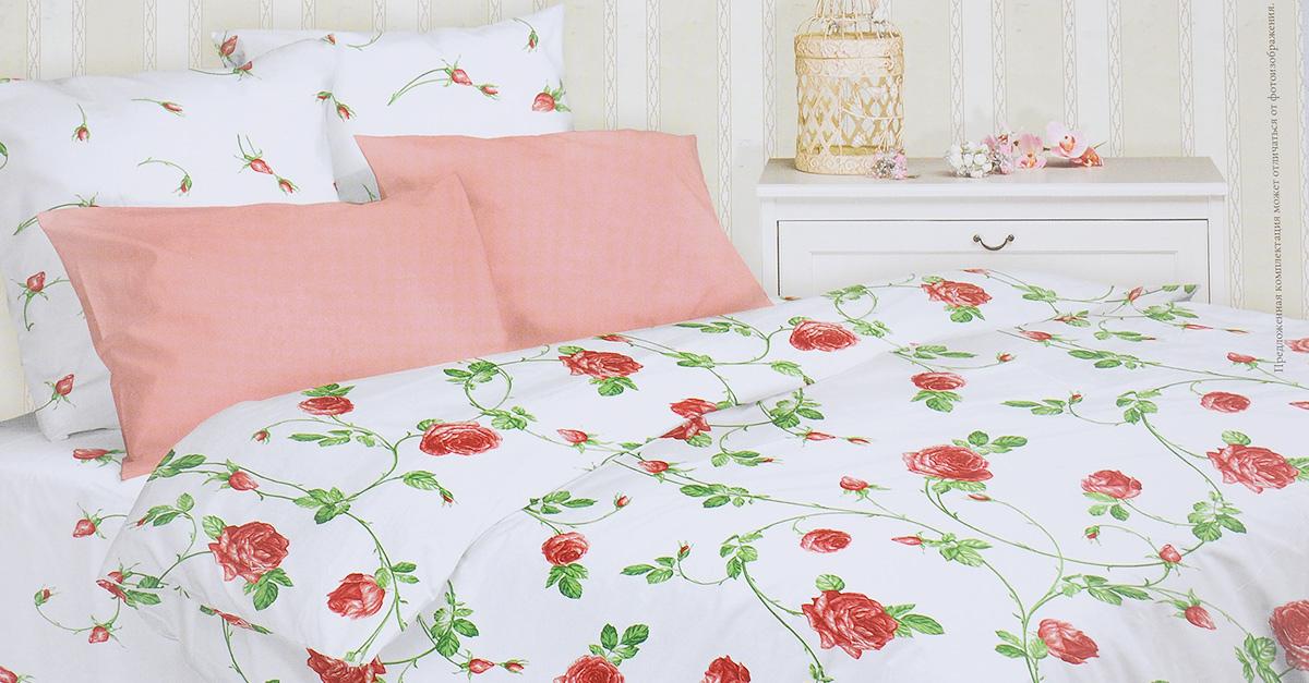 Комплект белья Mirarossi Vittoria, 1,5-спальный, наволочки 50х70, цвет: белый, розовый, зеленый391602Роскошный комплект постельного белья Mirarossi Vittoria выполнен из ткани Перкаль, натурального 100% хлопка. Ткань приятная на ощупь, при этом она прочная, хорошо сохраняет форму и не образует катышков на поверхности. Инновационная технология обработки ткани Easy Care позволяет белью дольше оставаться свежим. Органические активные вещества Easy Care на основе натуральных компонентов, эффективно препятствуют сминаемости и деформации ткани, что позволяет вам практически не тратить время на глажку постельного белья. Комплект состоит из пододеяльника, простыни и двух наволочек. Изделия оформлены цветочным принтом. Благодаря такому комплекту постельного белья вы создадите неповторимую атмосферу в вашей спальне.