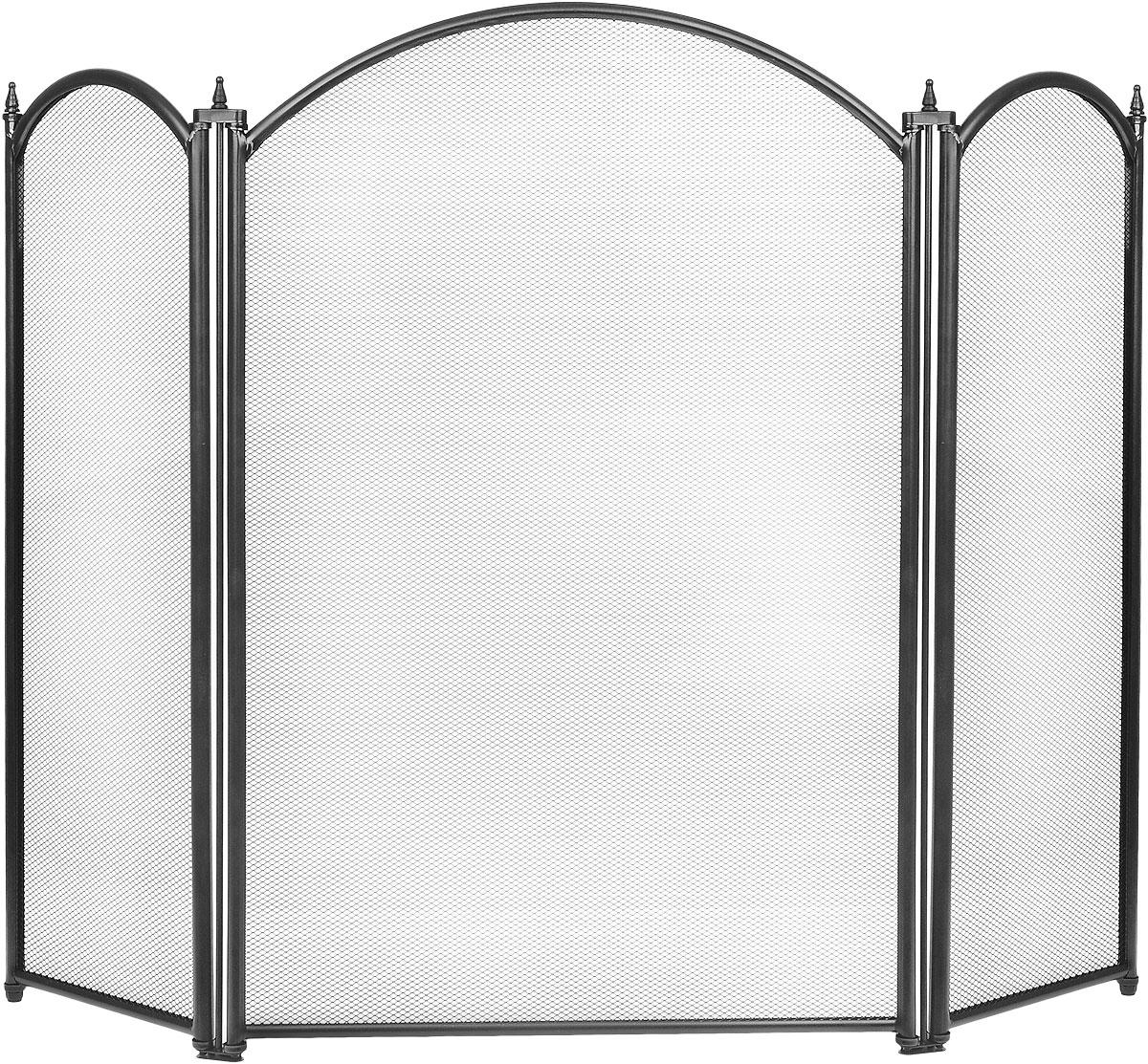 Экран каминный RealFlame, цвет: черный51041 BKКаминный экран RealFlame позволяет создать дополнительный эффект электрокамину, а так же создает дополнительный уют в доме и является незаменимым атрибутом, как современного очага так и классического. Изделие выполнено из высококачественного металла.Высота экрана: 68 см.Ширина экрана: 87 см.