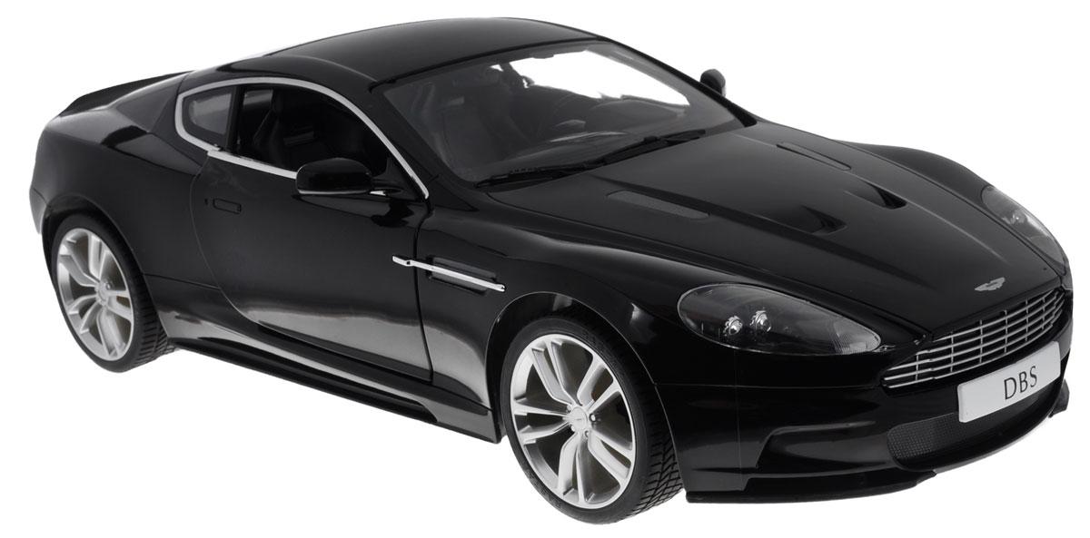 """Радиоуправляемая модель Rastar """"Aston Martin DBS Coupe"""" станет отличным подарком любому мальчику! Все дети хотят иметь в наборе своих игрушек ослепительные, невероятные и крутые автомобили на радиоуправлении. Тем более, если это автомобиль известной марки с проработкой всех деталей, удивляющий приятным качеством и видом. Одной из таких моделей является автомобиль на радиоуправлении Rastar """"Aston Martin DBS Coupe"""". Это точная копия настоящего авто в масштабе 1:10. Двери машины открываются. Возможные движения: вперед, назад, вправо, влево, остановка. Имеются световые эффекты. Пульт управления работает на частоте 27 MHz. Машина работает на сменном аккумуляторе (входит в комплект). Для работы пульта управления необходима батарейка 9V (6F22) (не входит в комплект)."""