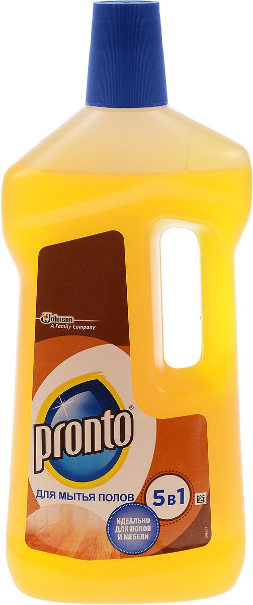 Средство для мытья полов Pronto 5 в 1, 750 мл391602Средство для мытья полов Pronto 5 в 1 мягко очищает и ухаживает.Благодаря содержанию таллового масла и мягких моющих веществ легкоочищает от грязи и жира, возвращая поверхности естественный блеск.Идеально подходит для мытья деревянных полов, паркета, плинтусов, дверей, оконных рам.Состав: вода, ПАВ. органические растворители, жирные кислоты таллового масла, отдушка, загуститель, гидроксид калия, консервант, краситель d-лимонен, линаоол, гераниол, бензилсалицилат.Товар сертифицирован.