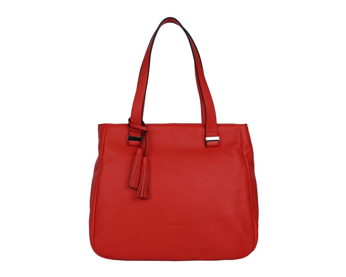 Сумка женская Palio, цвет: красный. 14350A-353967-637T-17s-01-42Стильная женская сумка Palio выполнена из натуральной кожи, оформлена декоративной подвеской металлической фурнитурой и тиснением с символикой бренда.Изделие содержит одно отделение, которое закрывается на молнию. Внутри расположены два накладных кармашка для мелочей, карман-средник на молнии и врезной карман на молнии. Снаружи, на задней стороне изделия, расположен врезной карман на молнии. Сумка оснащена двумя практичными ручками.Оригинальный аксессуар позволит вам завершить образ и быть неотразимой.